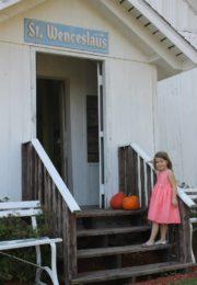 Little girl at the door